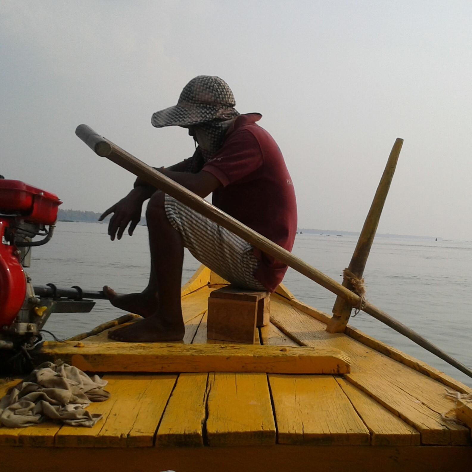 Boot auf dem Mekong