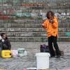 Musiker im Mauerpark in Berlin