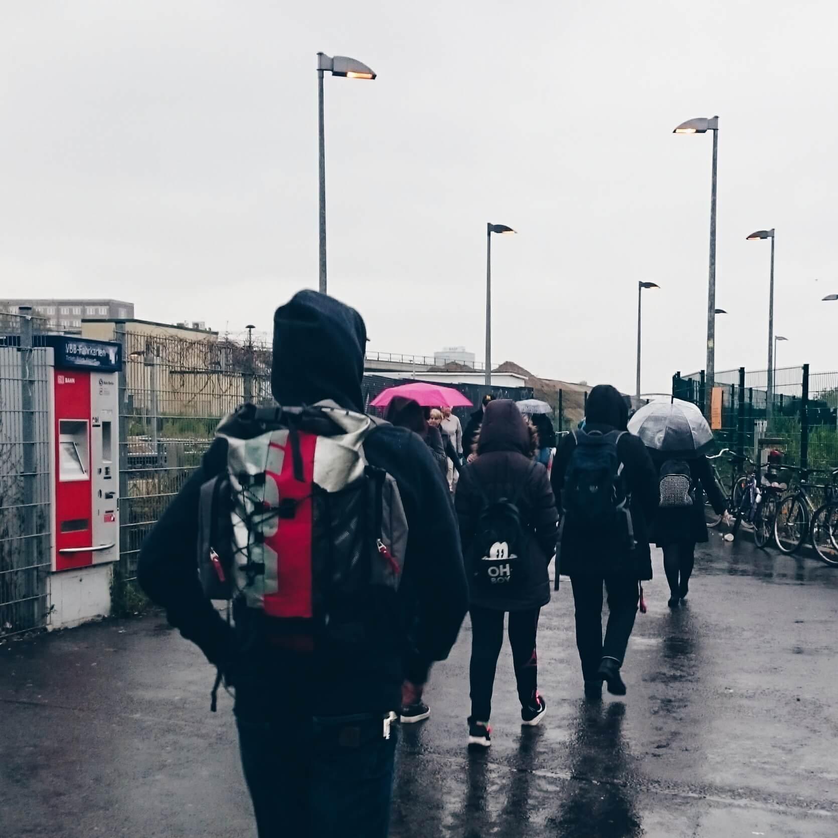 Regen am Ostkreuz