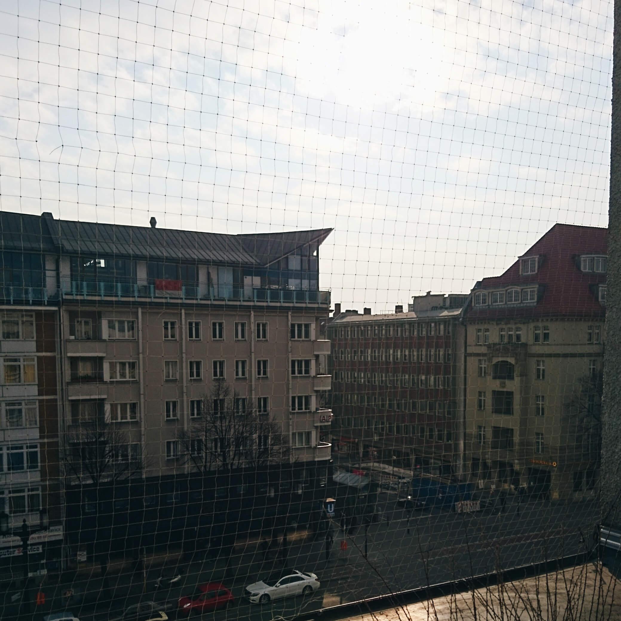 Blick aus dem Fenster bei Sonnenschein